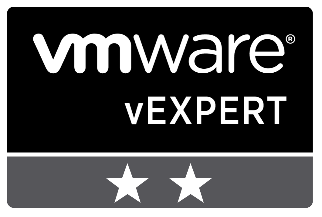 vExpert 2020 and 2021
